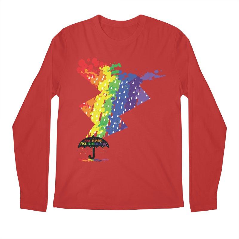 No rain no rainbow Men's Regular Longsleeve T-Shirt by cindyshim's Artist Shop