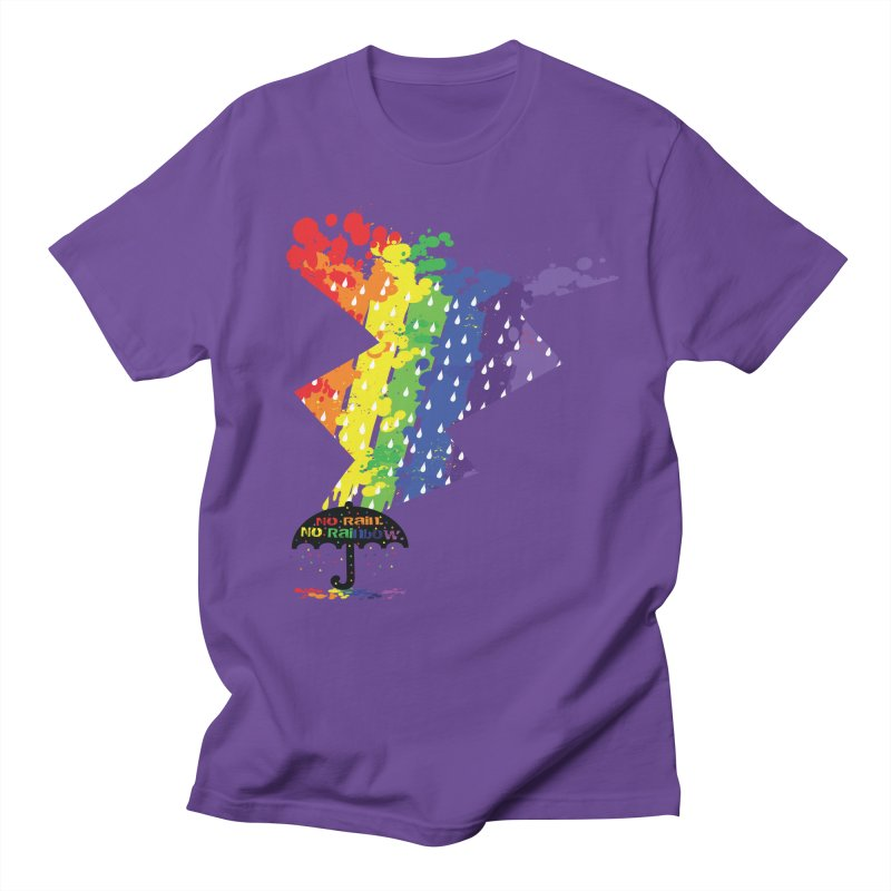 No rain no rainbow Men's T-Shirt by cindyshim's Artist Shop