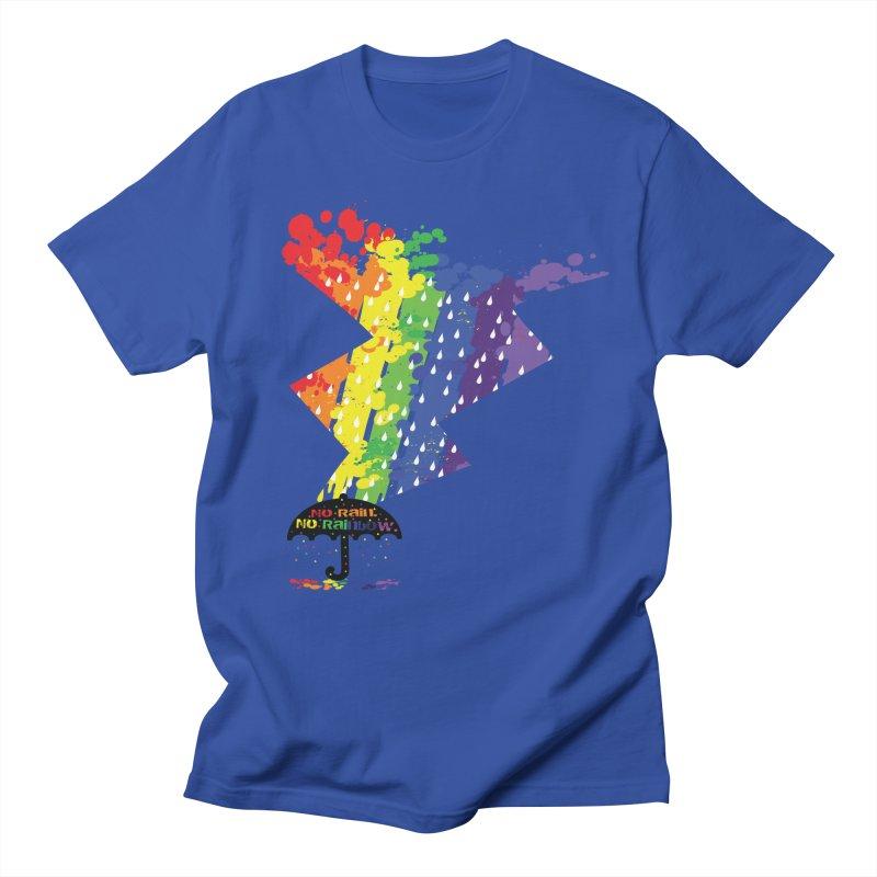 No rain no rainbow Women's Regular Unisex T-Shirt by cindyshim's Artist Shop