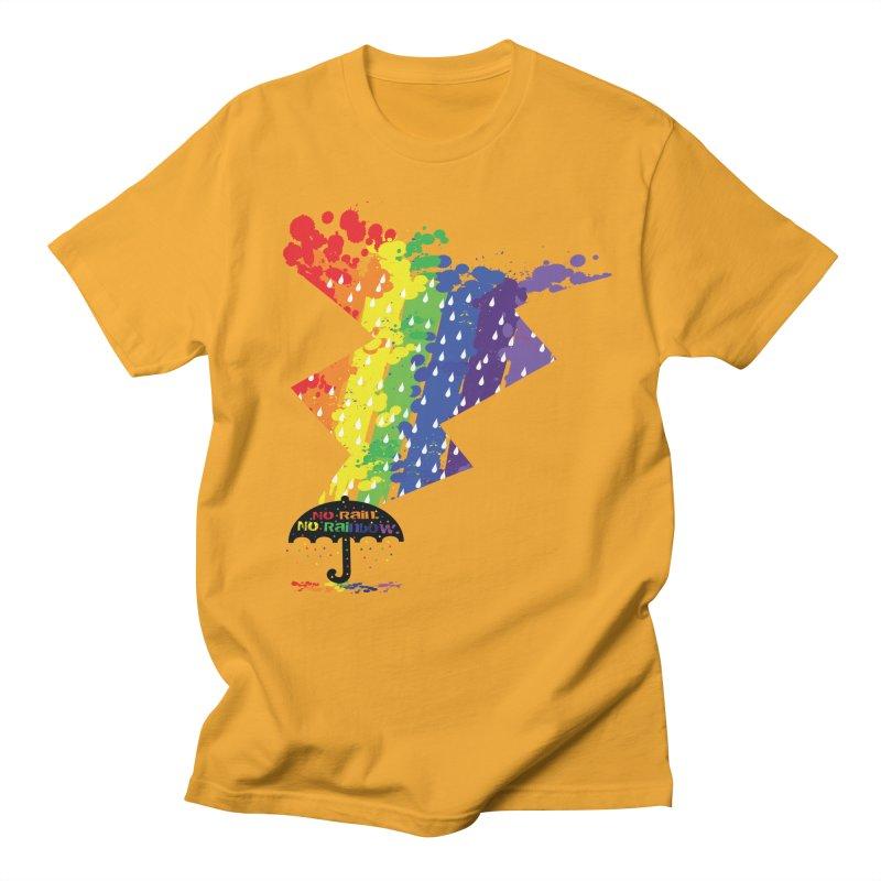 No rain no rainbow Men's Regular T-Shirt by cindyshim's Artist Shop