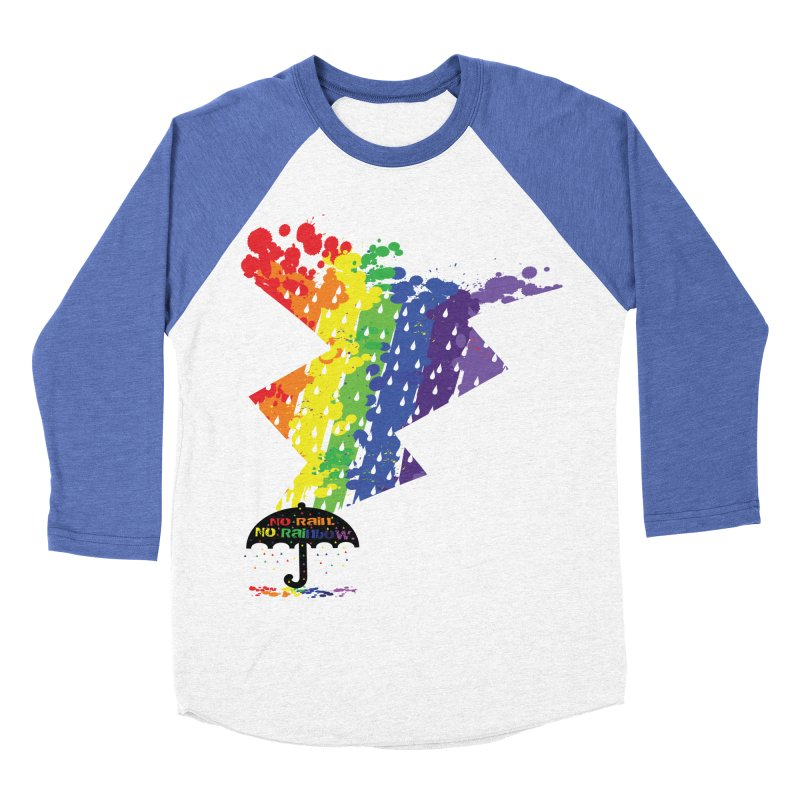 No rain no rainbow Women's Baseball Triblend Longsleeve T-Shirt by cindyshim's Artist Shop