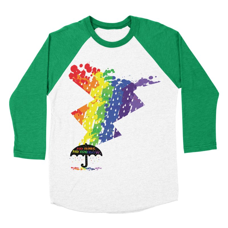 No rain no rainbow Men's Baseball Triblend T-Shirt by cindyshim's Artist Shop