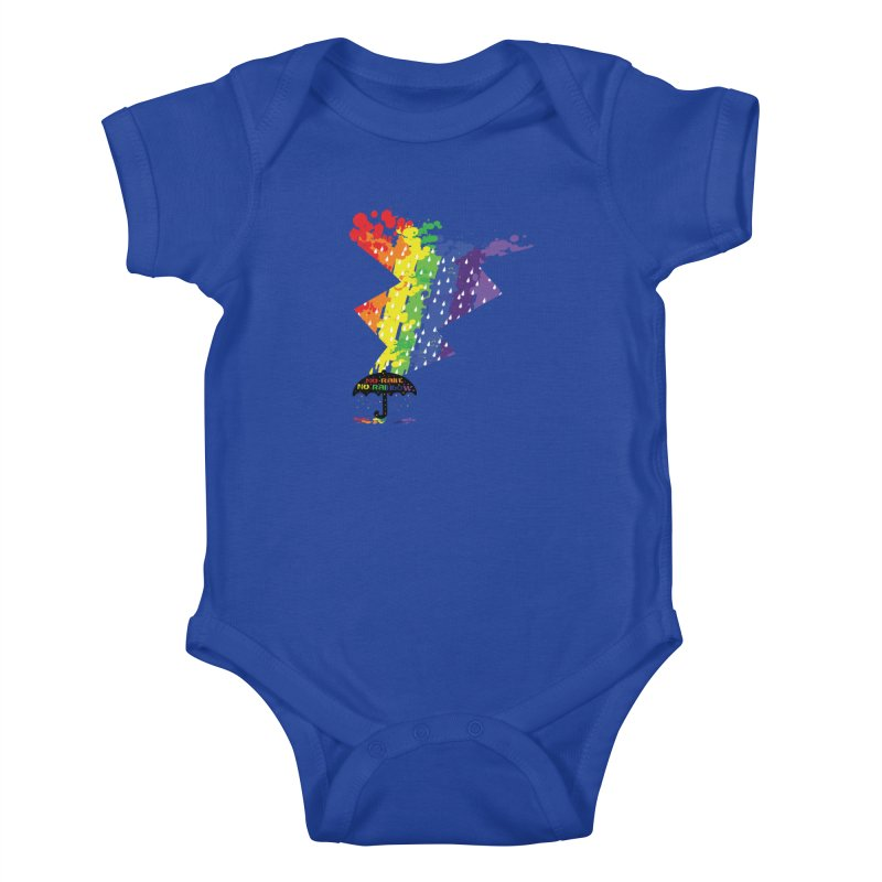 No rain no rainbow Kids Baby Bodysuit by cindyshim's Artist Shop