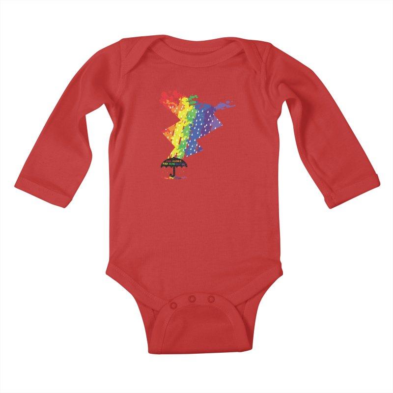 No rain no rainbow Kids Baby Longsleeve Bodysuit by cindyshim's Artist Shop