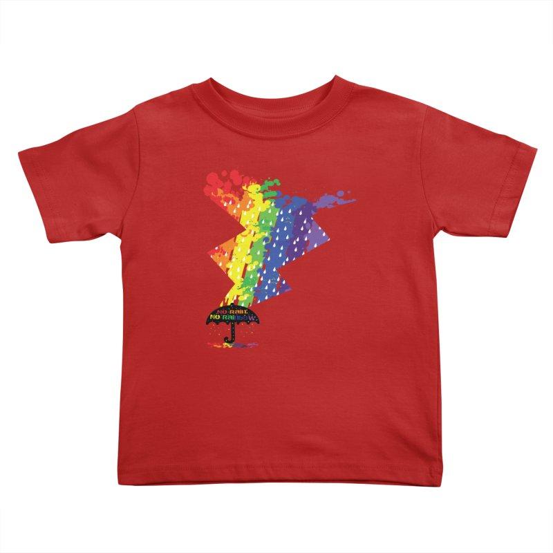 No rain no rainbow Kids Toddler T-Shirt by cindyshim's Artist Shop