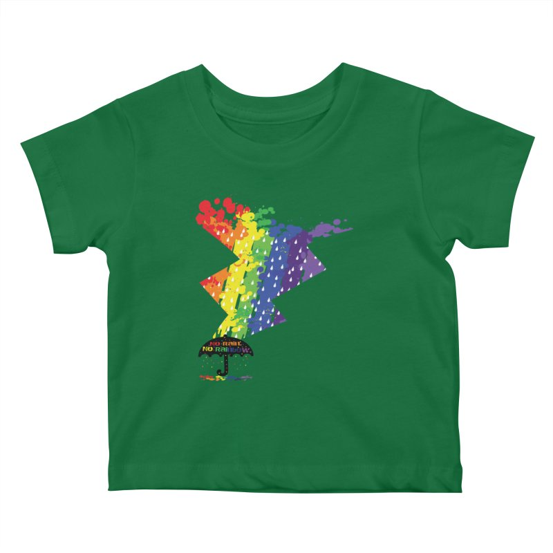 No rain no rainbow Kids Baby T-Shirt by cindyshim's Artist Shop