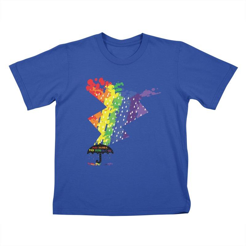 No rain no rainbow Kids T-shirt by cindyshim's Artist Shop