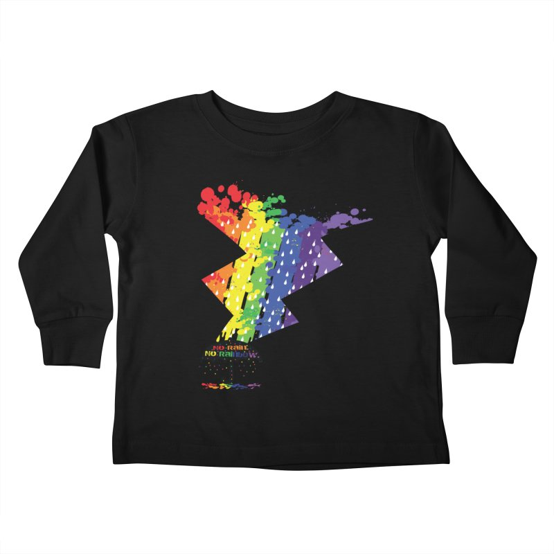 No rain no rainbow Kids Toddler Longsleeve T-Shirt by cindyshim's Artist Shop