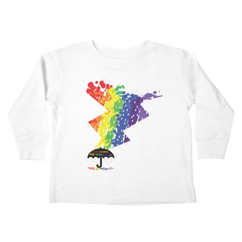 No rain no rainbow Kids Toddler Longsleeve T-Shirt by cindyshim's Artist Shop