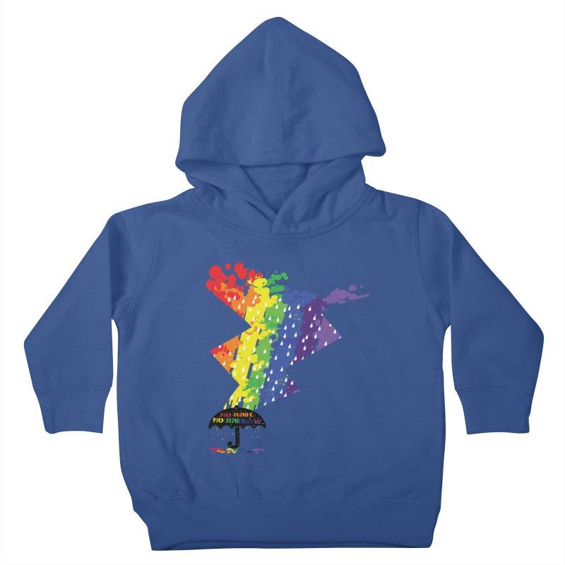 No rain no rainbow Kids Toddler Pullover Hoody by cindyshim's Artist Shop