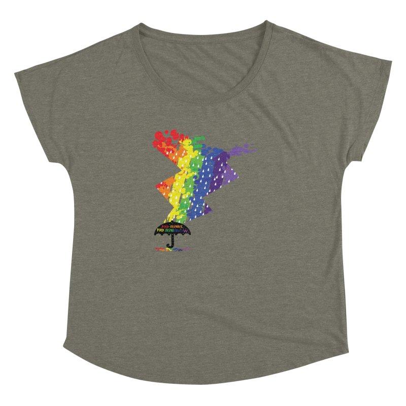 No rain no rainbow Women's Dolman by cindyshim's Artist Shop