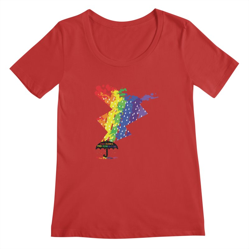 No rain no rainbow Women's Regular Scoop Neck by cindyshim's Artist Shop