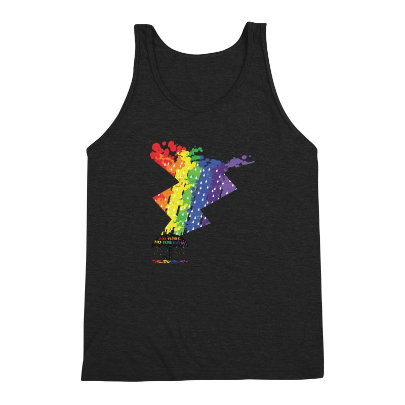No rain no rainbow Men's Triblend Tank by cindyshim's Artist Shop