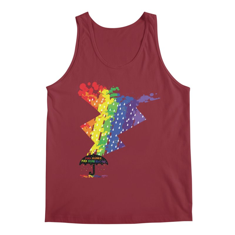 No rain no rainbow Men's Tank by cindyshim's Artist Shop