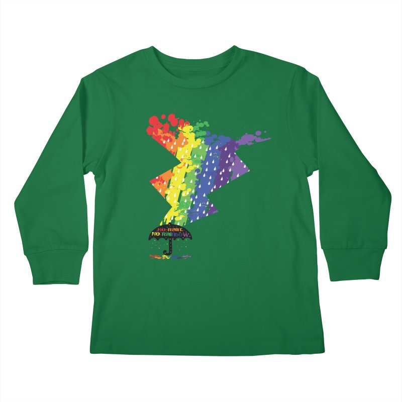 No rain no rainbow Kids Longsleeve T-Shirt by cindyshim's Artist Shop