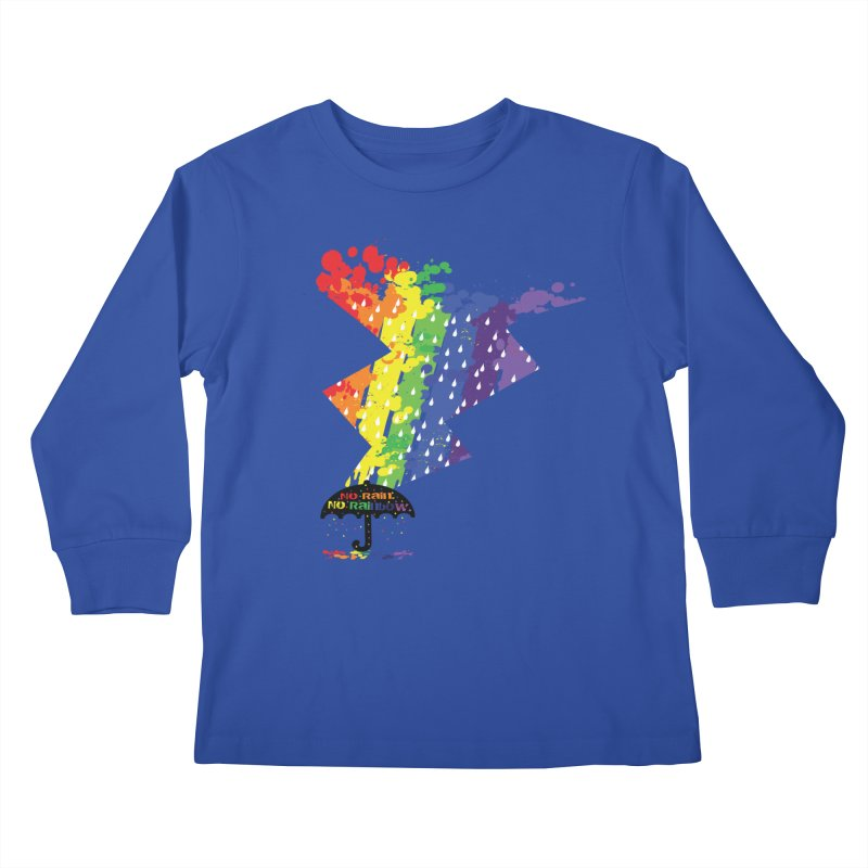 No rain no rainbow Kids Longsleeve T-Shirt by cindyshim's Artist Shop