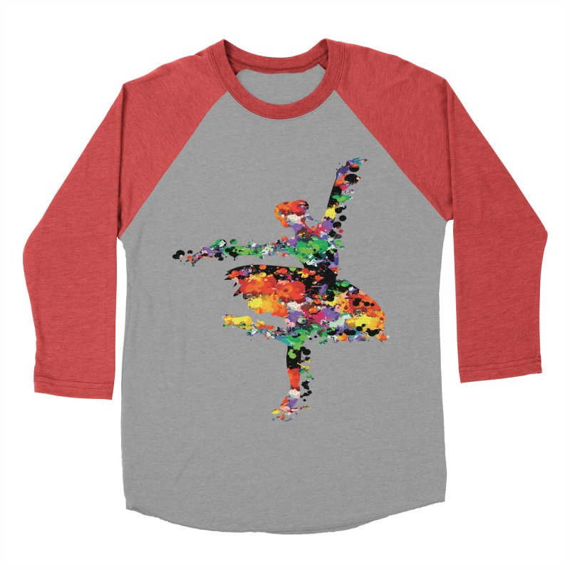 splash ballerina Women's Baseball Triblend T-Shirt by cindyshim's Artist Shop