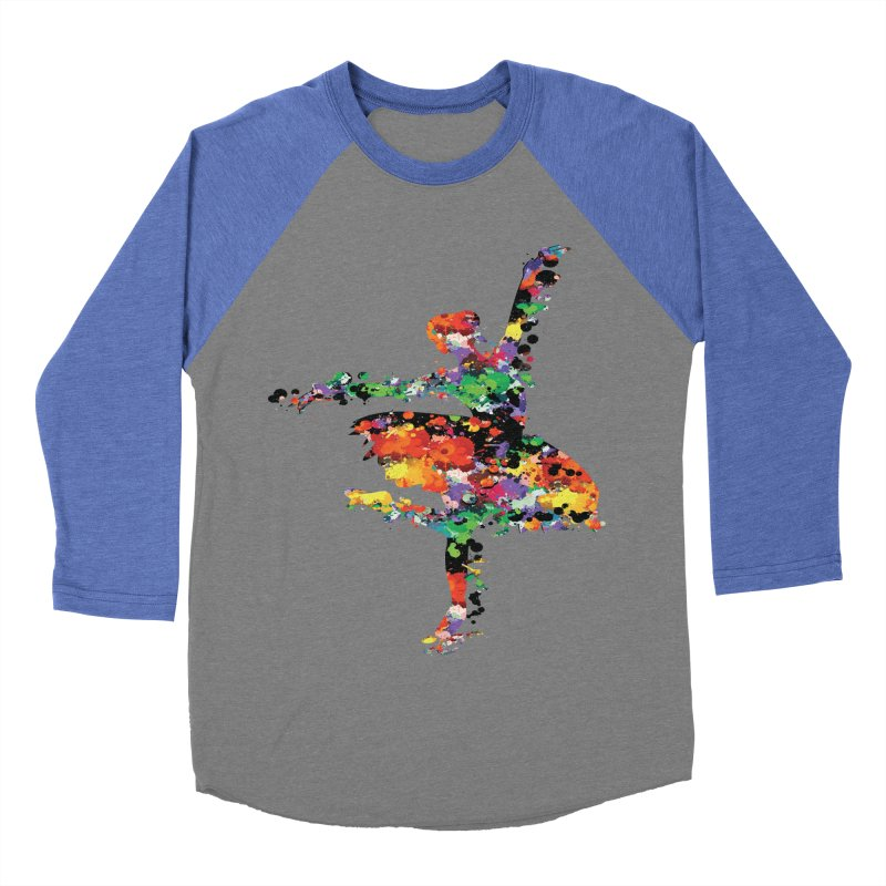 splash ballerina Men's Baseball Triblend T-Shirt by cindyshim's Artist Shop