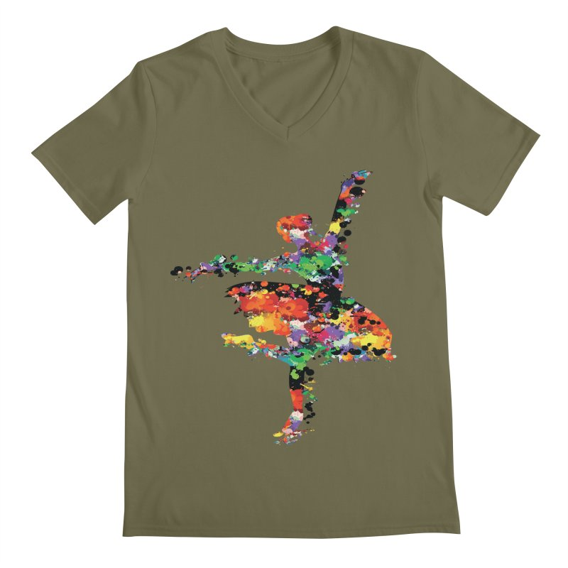 splash ballerina Men's V-Neck by cindyshim's Artist Shop