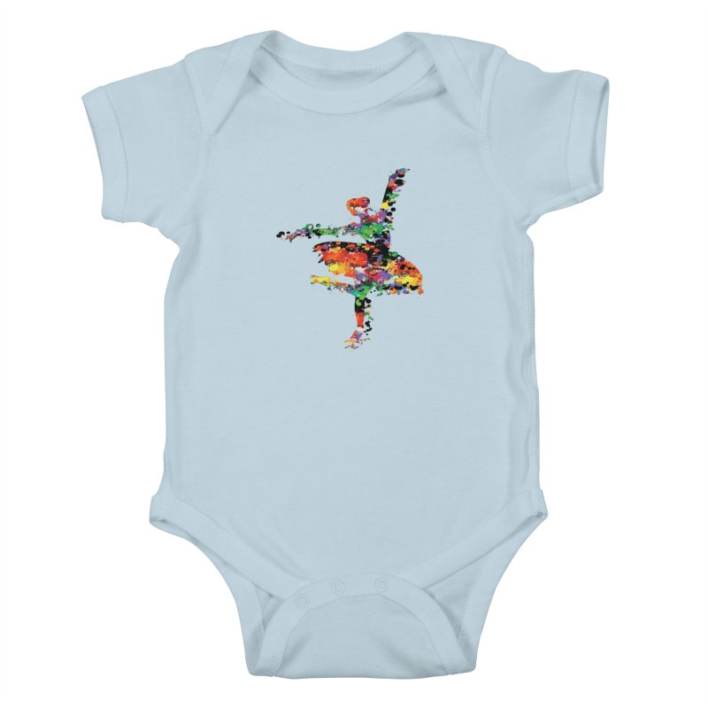 splash ballerina Kids Baby Bodysuit by cindyshim's Artist Shop