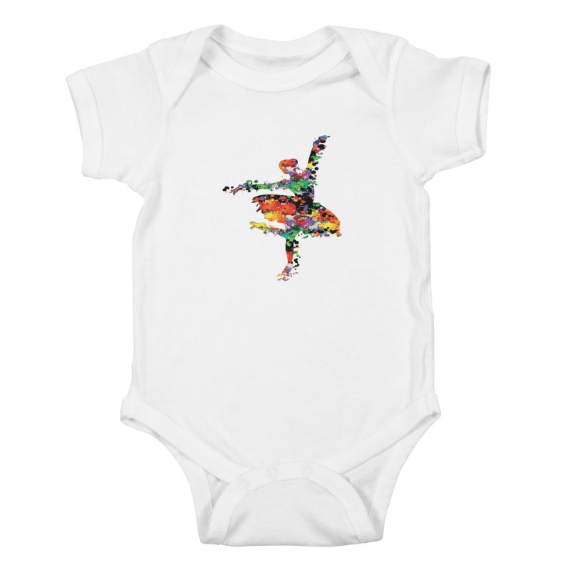 splash ballerina Kids Baby Bodysuit by cindyshim's Artist Shop