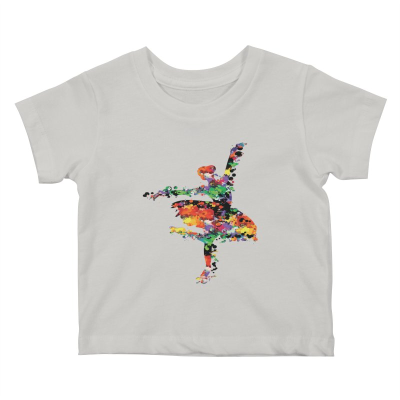 splash ballerina Kids Baby T-Shirt by cindyshim's Artist Shop