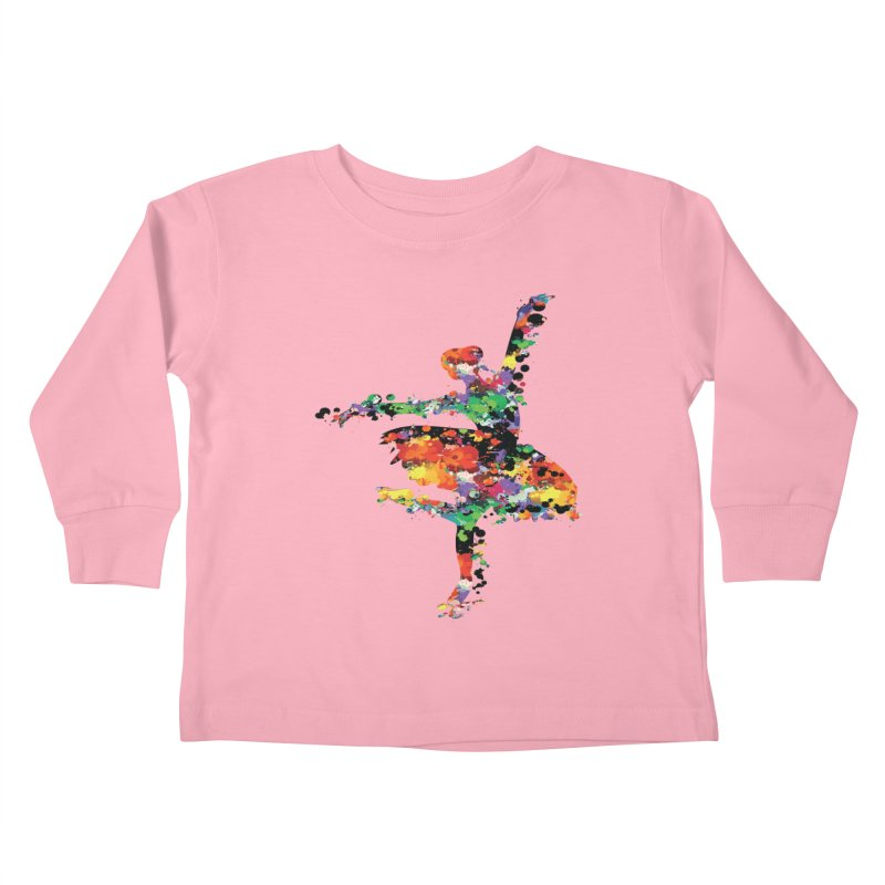 splash ballerina Kids Toddler Longsleeve T-Shirt by cindyshim's Artist Shop