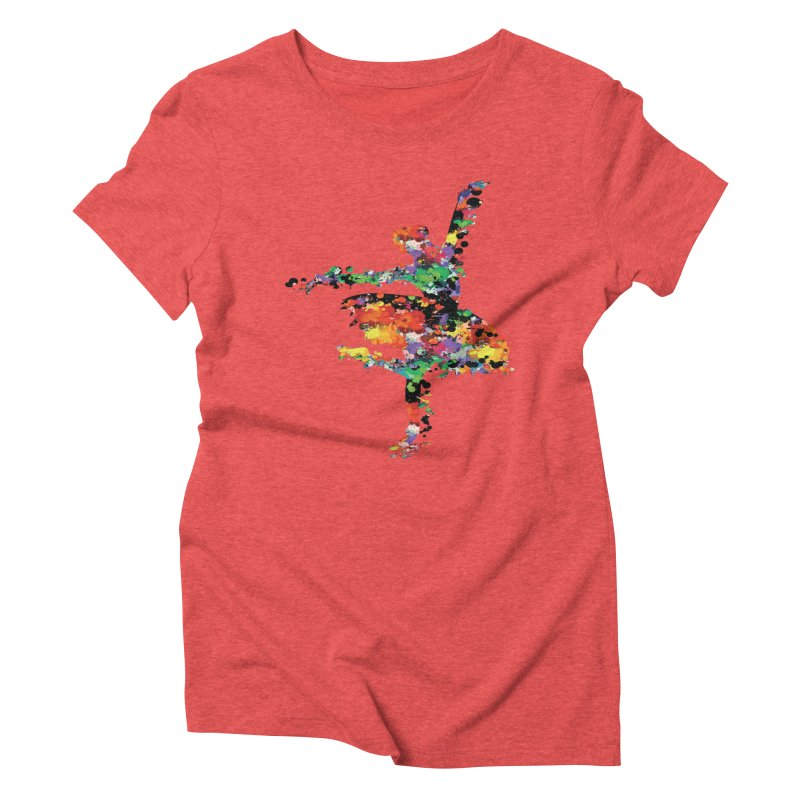 splash ballerina Women's Triblend T-shirt by cindyshim's Artist Shop