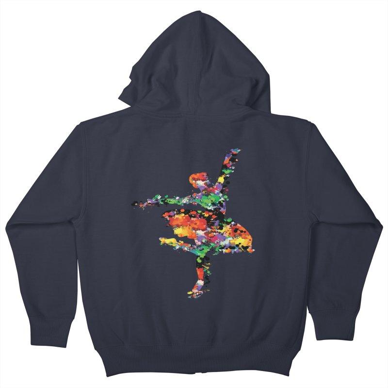 splash ballerina Kids Zip-Up Hoody by cindyshim's Artist Shop