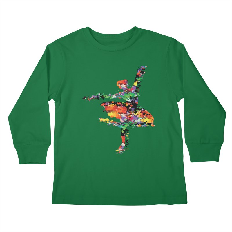 splash ballerina Kids Longsleeve T-Shirt by cindyshim's Artist Shop