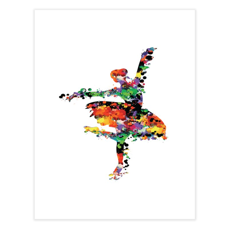 splash ballerina Home Fine Art Print by cindyshim's Artist Shop