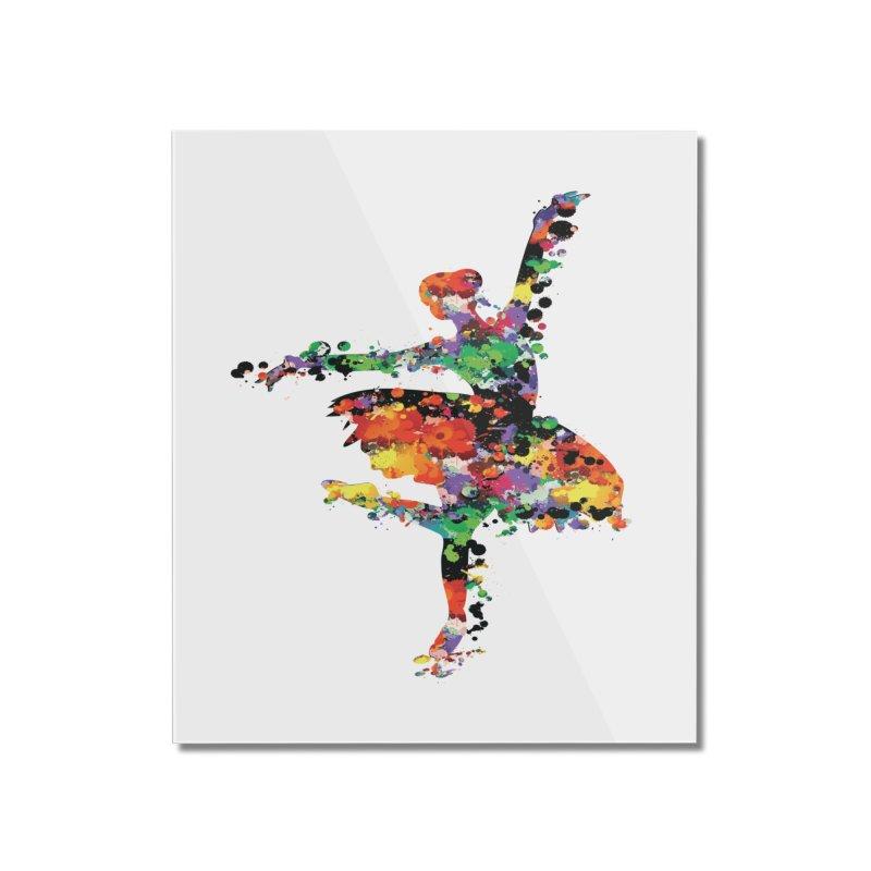 splash ballerina Home Mounted Acrylic Print by cindyshim's Artist Shop