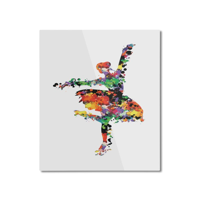 splash ballerina Home Mounted Aluminum Print by cindyshim's Artist Shop