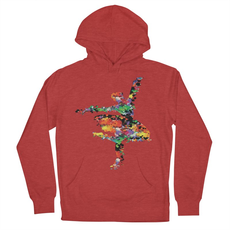 splash ballerina Women's French Terry Pullover Hoody by cindyshim's Artist Shop