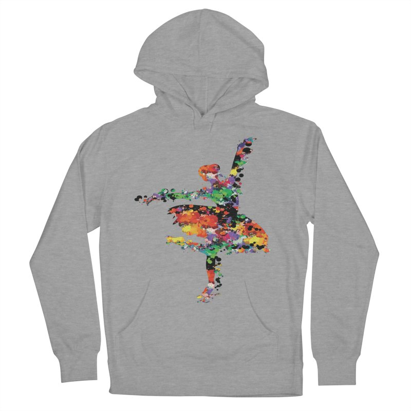 splash ballerina Men's French Terry Pullover Hoody by cindyshim's Artist Shop