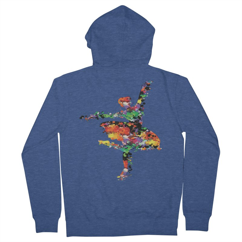 splash ballerina Men's French Terry Zip-Up Hoody by cindyshim's Artist Shop