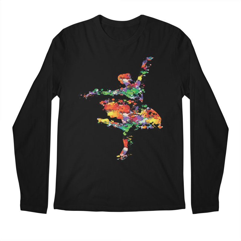 splash ballerina Men's Longsleeve T-Shirt by cindyshim's Artist Shop
