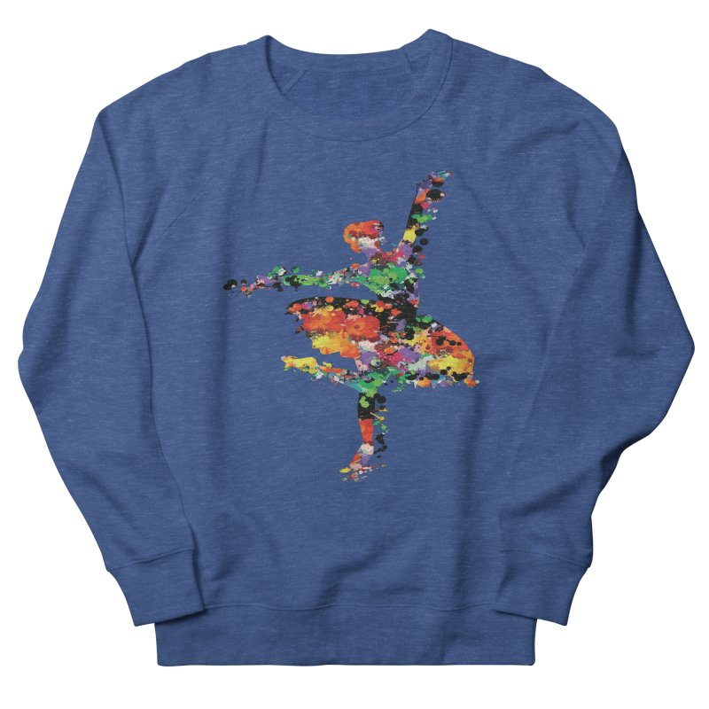 splash ballerina Women's French Terry Sweatshirt by cindyshim's Artist Shop