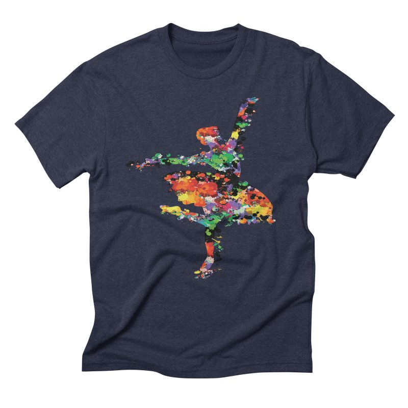 splash ballerina Men's Triblend T-Shirt by cindyshim's Artist Shop