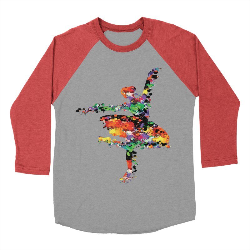splash ballerina Women's Baseball Triblend Longsleeve T-Shirt by cindyshim's Artist Shop