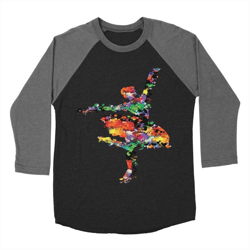 splash ballerina Women's Baseball Triblend Longsleeve T-Shirt by cindyshim's Artist Shop
