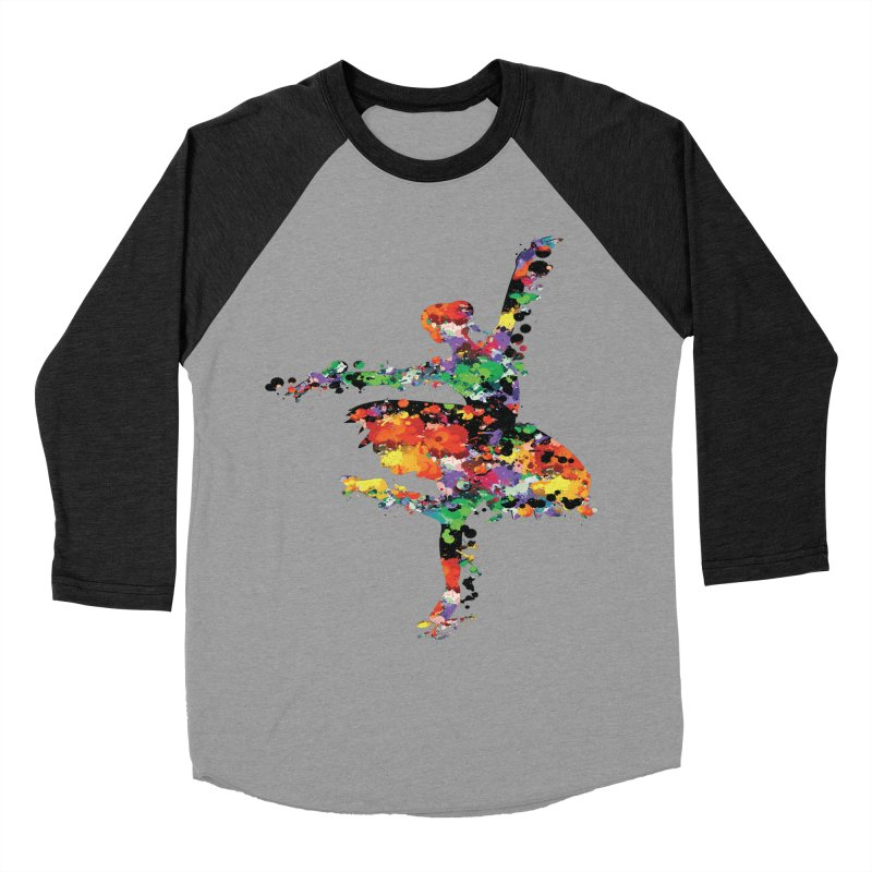 splash ballerina Men's Baseball Triblend T-Shirt by cindyshim's Artist Shop