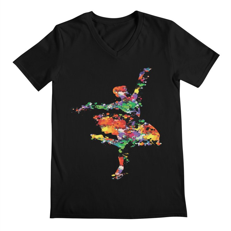 splash ballerina Men's Regular V-Neck by cindyshim's Artist Shop