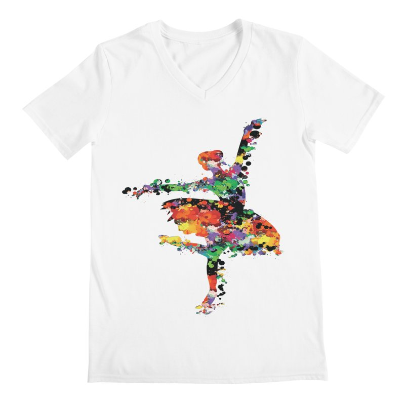 splash ballerina Men's V-Neck by cindyshim's Artist Shop