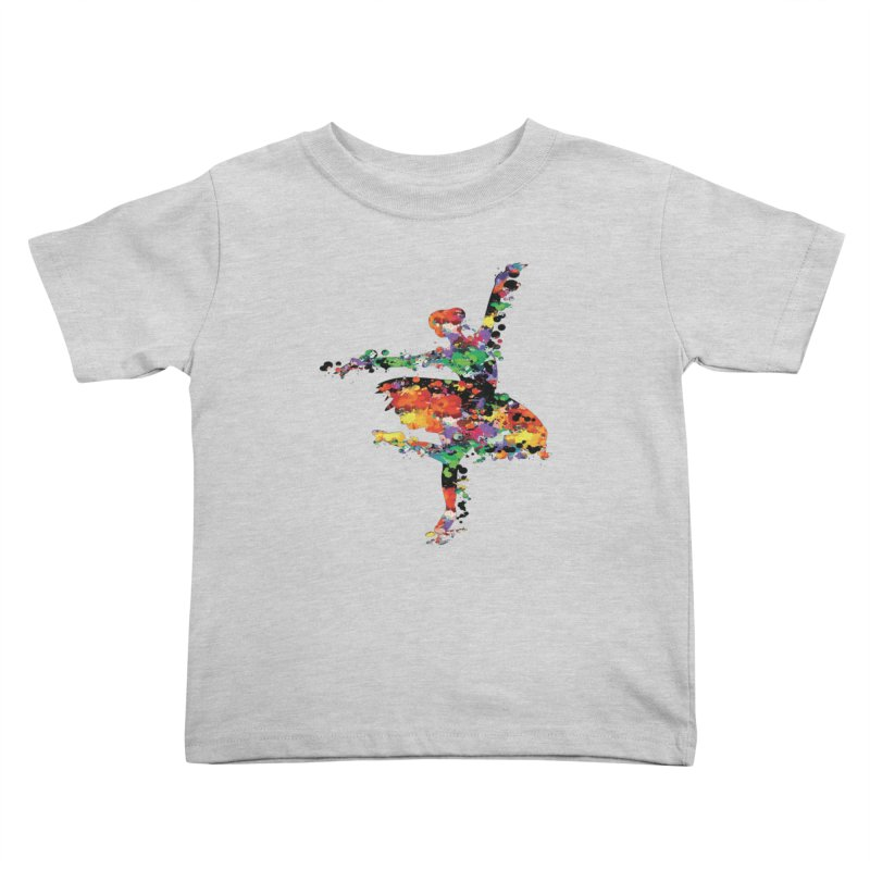 splash ballerina Kids Toddler T-Shirt by cindyshim's Artist Shop
