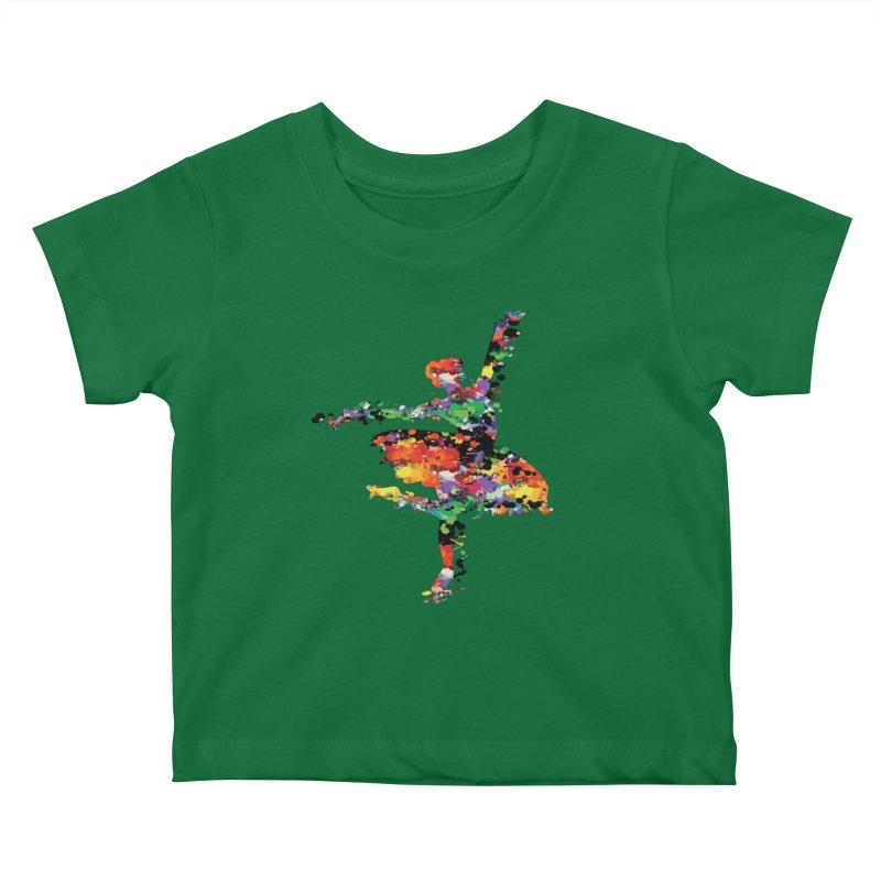 splash ballerina Kids Baby T-Shirt by cindyshim's Artist Shop