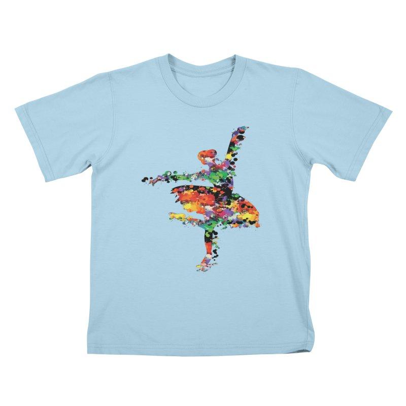 splash ballerina Kids T-Shirt by cindyshim's Artist Shop