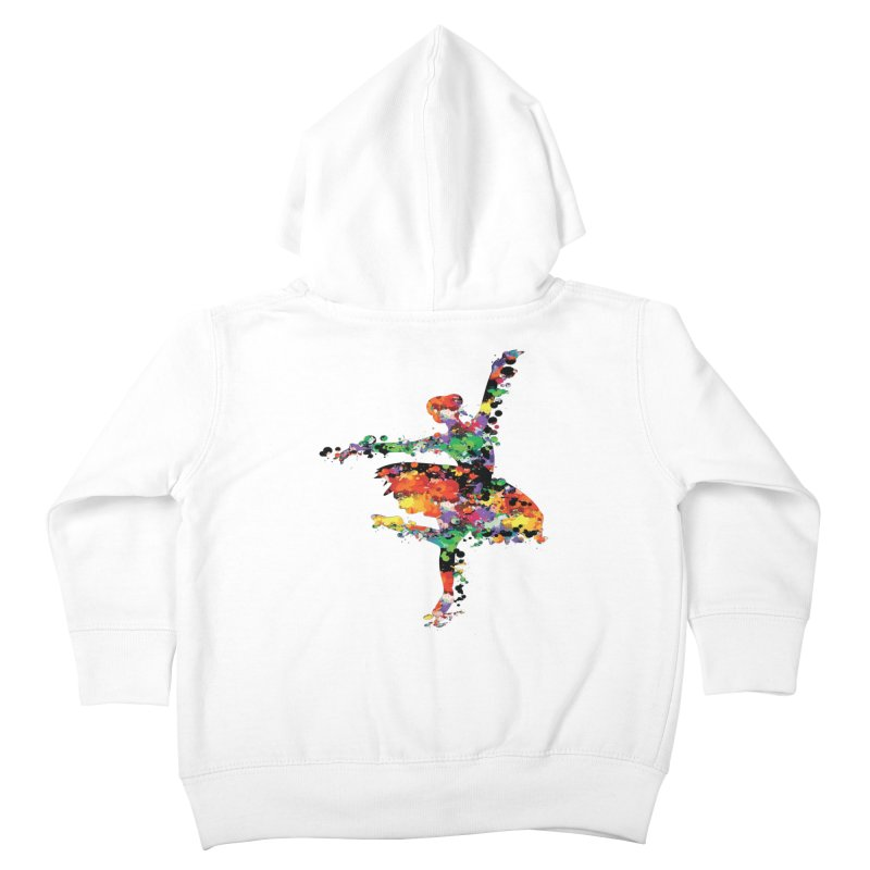 splash ballerina Kids Toddler Zip-Up Hoody by cindyshim's Artist Shop