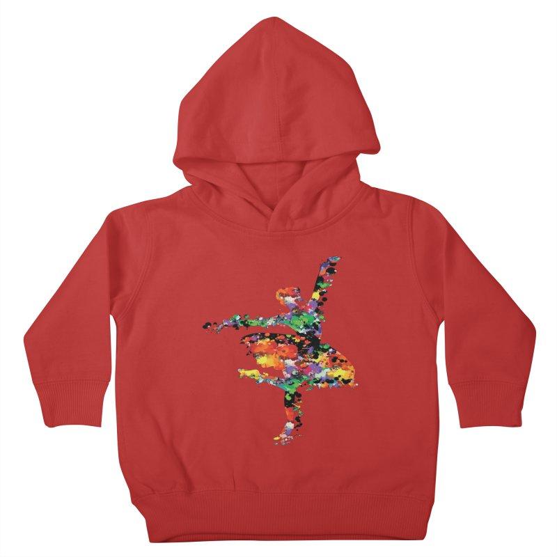 splash ballerina Kids Toddler Pullover Hoody by cindyshim's Artist Shop