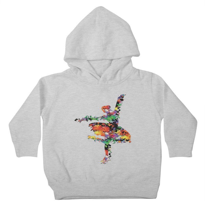 splash ballerina Kids Toddler Pullover Hoody by cindyshim's Artist Shop